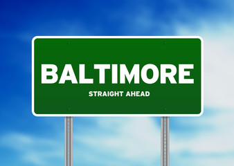 Baltimore, Maryland Highway  Sign