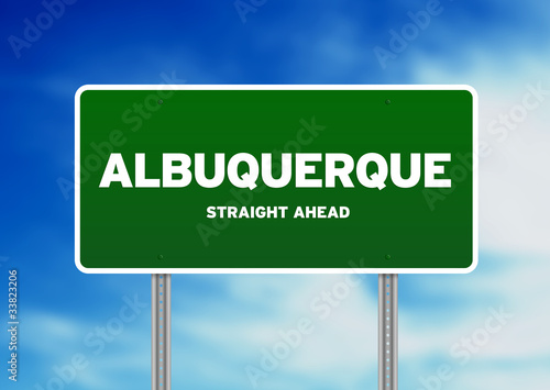 Albuquerque, New Mexico Highway Sign