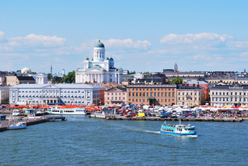 Helsinki,  view from the sea