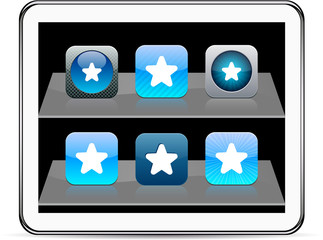 Star blue app icons.