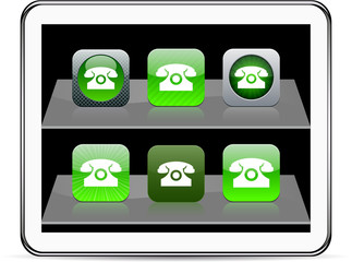 Free call green app icons.