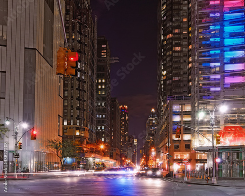 Manhatten at night, NYC