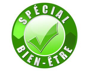 étiquette spécial bien-être vert