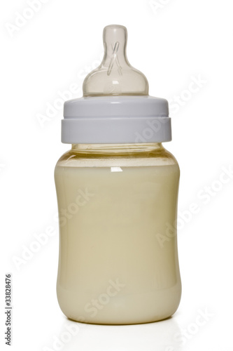 Baby botttle isolated on white
