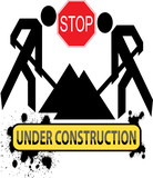 Under Construction sign - vector