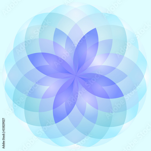 Abstract lotus flower