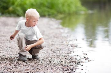 boy near the river