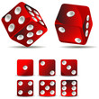 set of dices isolated on white background