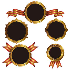 gold emblem set