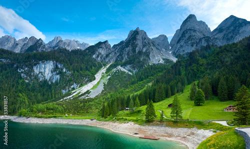 Fototapeta Alpine summer lake view