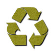 Green felt recycle symbol