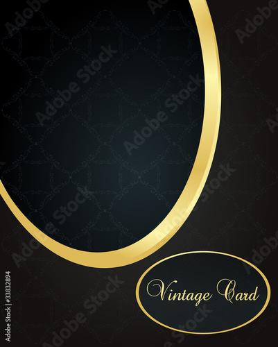 Vintage wedding card vector background