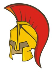 Ancient soldier helmet