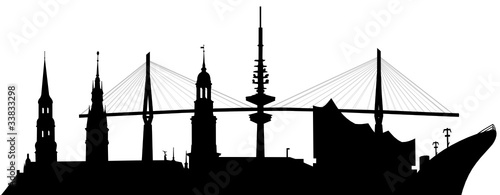 Skyline Hamburg, Vector