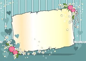 Parchment turquoise background horizontal