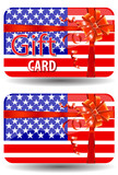 usa gift card isolated on white background
