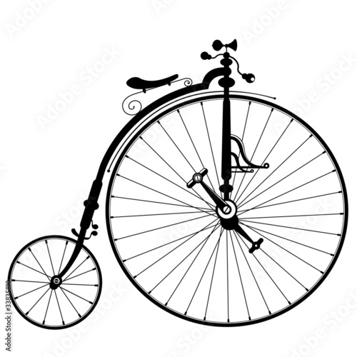 old bicycle drawing - 33835810