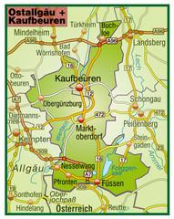Landkreise Ostallgäu + Kaufbeuren Variante 5