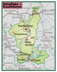 Landkreise Ostallgäu + Kaufbeuren Variante 6
