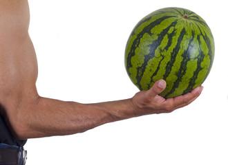 Hand und Melone