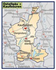 Landkreise Ostallgäu + Kaufbeuren Variante 7