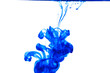 Blue ink drop