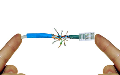Defective (soldered) internet wire