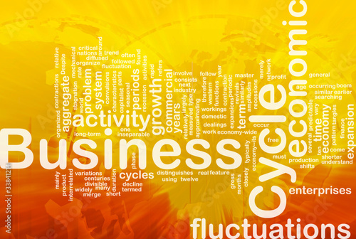 Business cycle is bone background concept