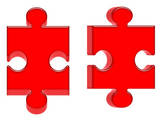 red 3d puzzles