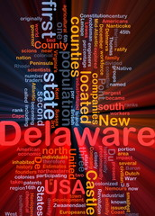 Delaware state background concept glowing