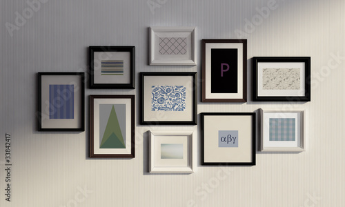 Photo Frame Wall Black Picture Frames Wall Wall