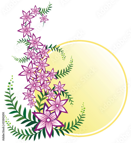 Pink floral creeper design with space for messages