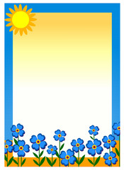 Sunny day floral frame for messages