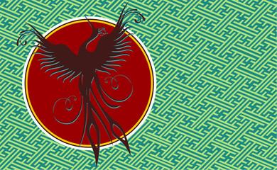 Phoenix bird background