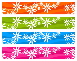Colorful floral banners
