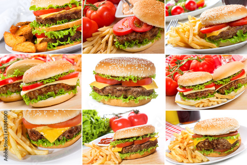 set with hamburgers - 33844000