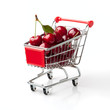 Cherries in Shopping Cart
