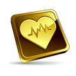 Icône électrocardiogramme