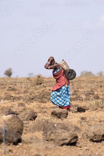 Fotobehang Overige Masai people