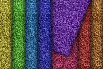 Colorful bathroom towels