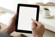 Digital tablet (with screen clipping path)