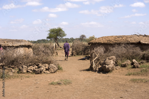 Fotobehang Overige Masai village