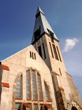 Lutheran church in Riga, Latvia poster
