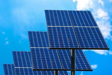Green technology, solar panels.