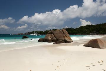 Yacht at Seychelles