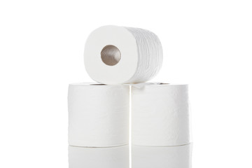 Clean white toilet paper