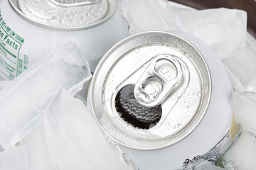 A group of soda cans