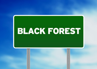 Black Forest Highway Sign