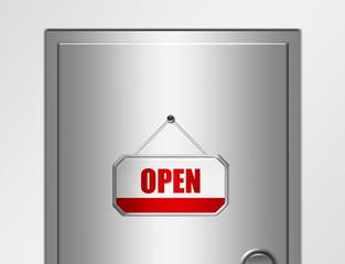 door and open sign