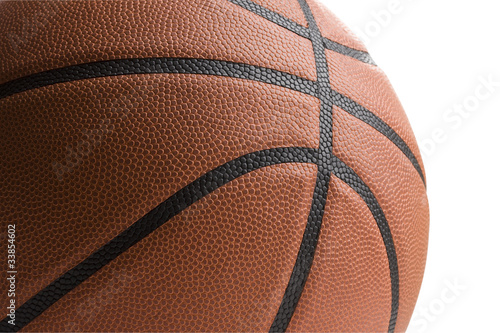 Basketball on white